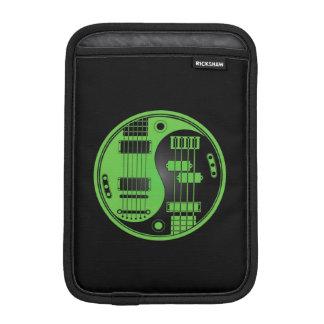Guitar and Bass Yin Yang Green and Black Sleeve For iPad Mini