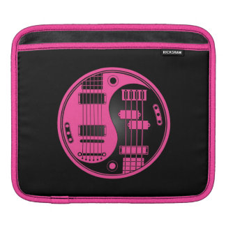 Guitar and Bass Yin Yang Pink and Black Sleeve For iPads