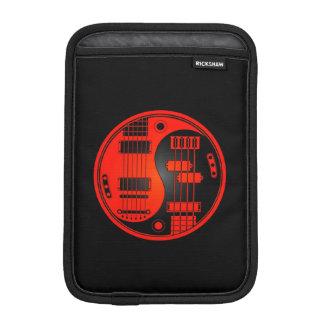 Guitar and Bass Yin Yang Red and Black iPad Mini Sleeves