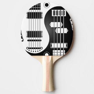 Guitar and Bass Yin Yang White and Black Ping Pong Paddle