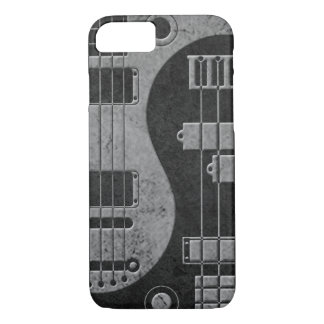 Guitar and Bass Yin Yang with Dark Texture iPhone 7 Case