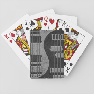Guitar and Bass Yin Yang with Dark Texture Deck Of Cards