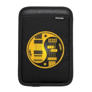 Guitar and Bass Yin Yang Yellow and Black iPad Mini Sleeve