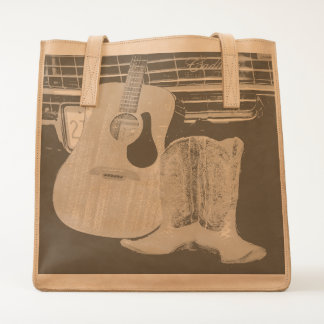 Guitar And Boots Tote