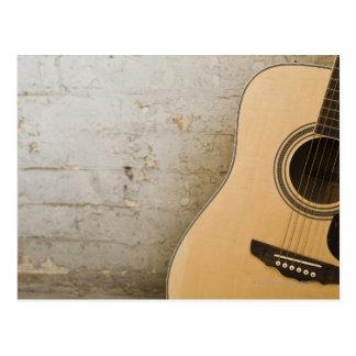 Guitar and Bricks Postcard