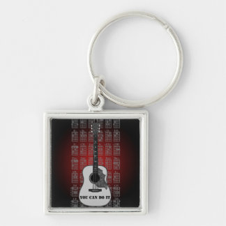 Guitar and chord 06 keychain