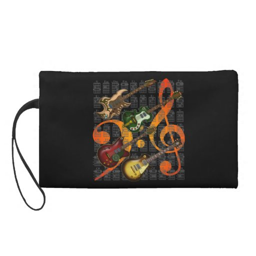 Guitar and Chord 07 Wristlet Purses