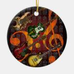 Guitar and Chord 07 Ceramic Ornament