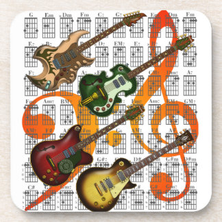 Guitar and Chord 07 Drink Coasters