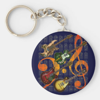 Guitar and Chord 07 Keychain