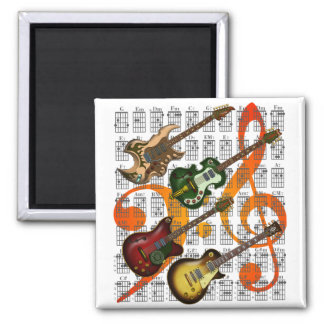 Guitar and Chord 07 Magnet