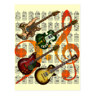 Guitar and Chord 07 Postcard