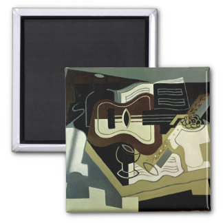 Guitar and Clarinet, 1920 2 Inch Square Magnet