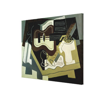 Guitar and Clarinet, 1920 Canvas Print