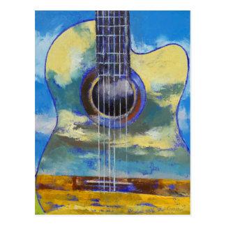 Guitar and Clouds Postcard
