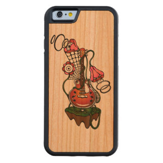 guitar and flowers carved® cherry iPhone 6 bumper case