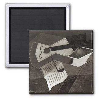 Guitar and Fruit bowl, 1926 2 Inch Square Magnet