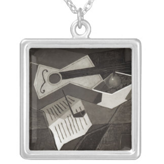 Guitar and Fruit bowl, 1926 Square Pendant Necklace