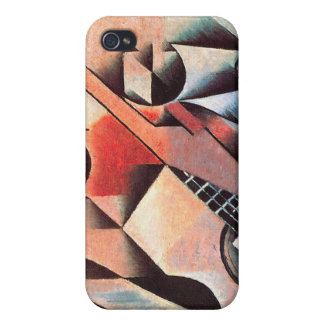 Guitar and Glasses, by Juan Gris iPhone 4 Covers