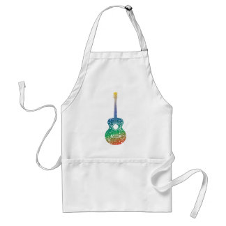 Guitar and Music Notes 10 Adult Apron
