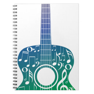 Guitar and Music Notes 10 Notebook