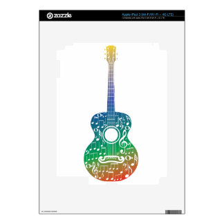 Guitar and Music Notes 10 Skin For iPad 3