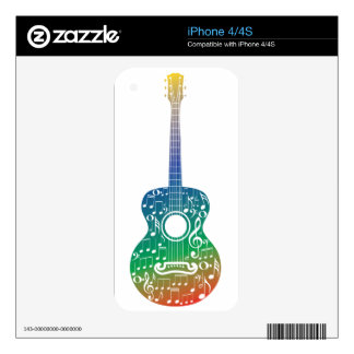 Guitar and Music Notes 10 Skins For The iPhone 4S