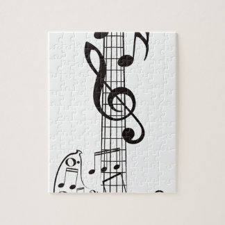 Guitar and Music Notes 3 Jigsaw Puzzle