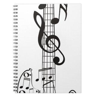 Guitar and Music Notes 3 Notebook
