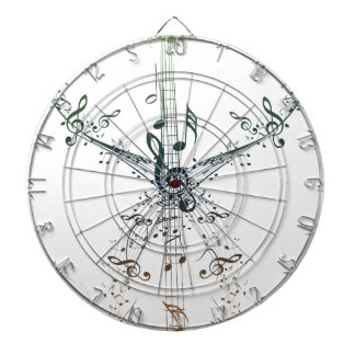 Guitar and Music Notes 4 Dartboards