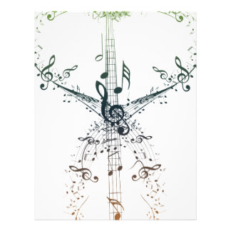Guitar and Music Notes 4 Letterhead