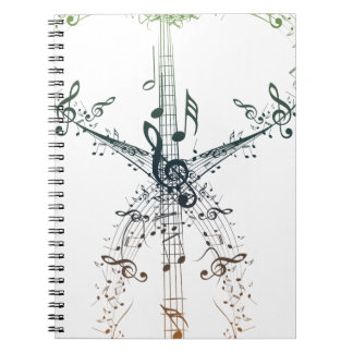 Guitar and Music Notes 4 Notebook