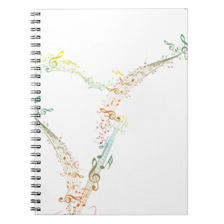 Guitar and Music Notes 5 Spiral Notebook