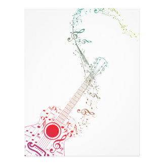 Guitar and Music Notes 6 Letterhead