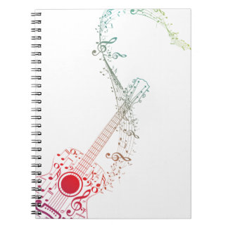 Guitar and Music Notes 6 Notebook