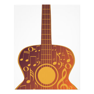 Guitar and Music Notes 9 Letterhead