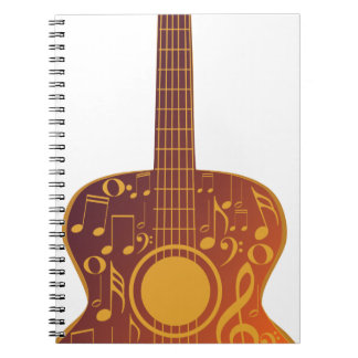 Guitar and Music Notes 9 Notebook