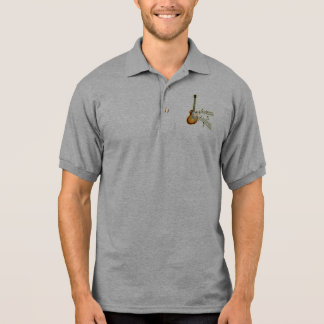 Guitar and Music Notes - Customize Polo Shirt