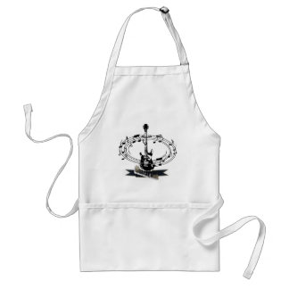 Guitar and Musical Notes Adult Apron