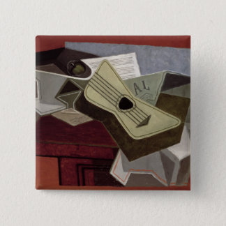 Guitar and Newspaper, 1925 Pinback Button