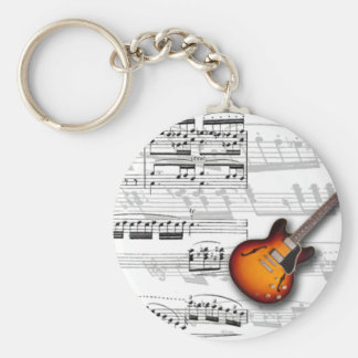 Guitar and partition key chain