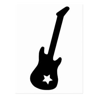 Guitar and Star Postcard