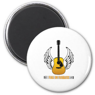 Guitar Angel - Fearless 2 Inch Round Magnet