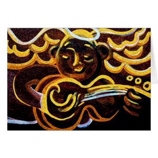 guitar angel greeting card
