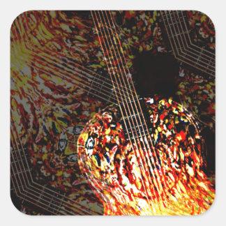 Guitar Art Square Sticker