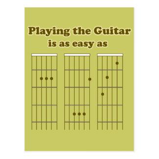 Guitar as Easy as ABC Postcard