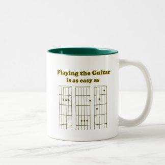 Guitar as Easy as ABC Two-Tone Coffee Mug