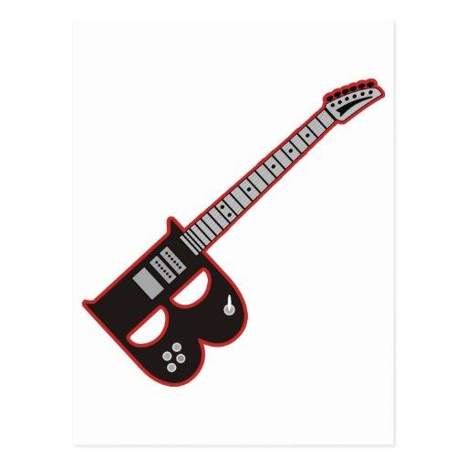 Guitar B Post Card