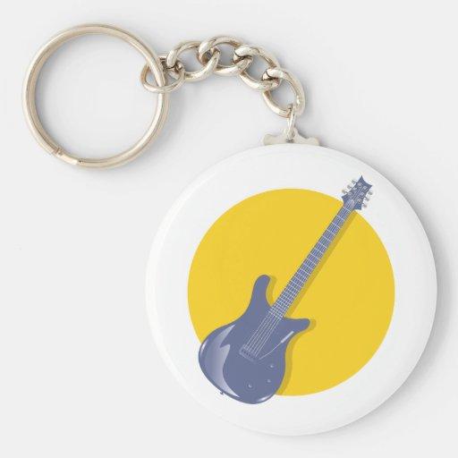 Guitar Badge Key Chain
