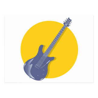 Guitar Badge Postcard